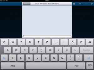 WebEx' chat functionality on iPad